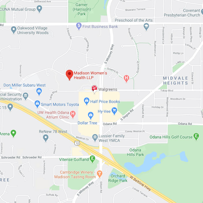 Map to Madison Women's Health -OBGYN Clinic Near Me