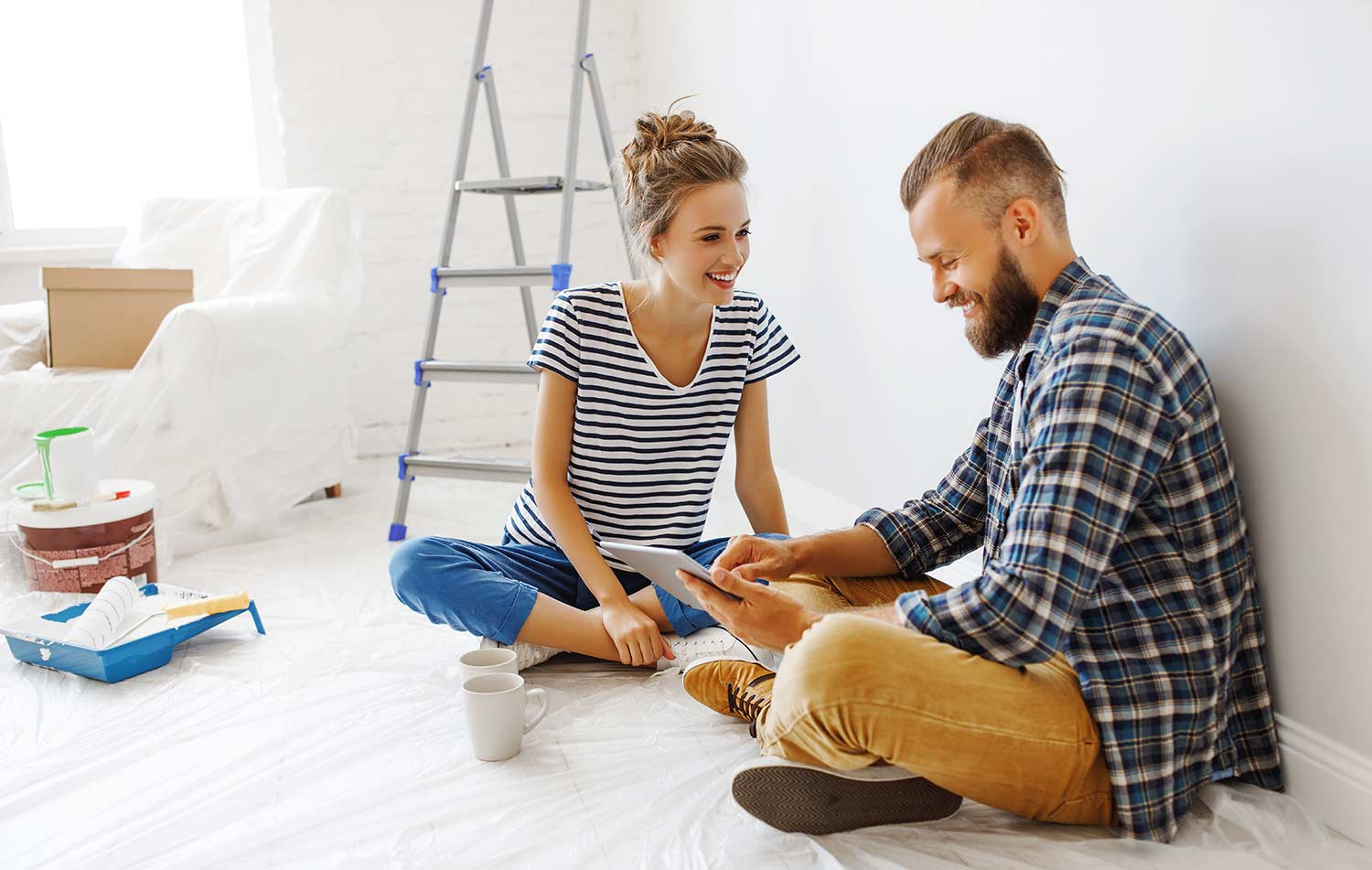 Couple preparing for a baby
